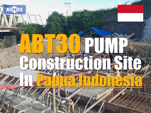Indoneziyadagi ABT30C beton treyler nasosi