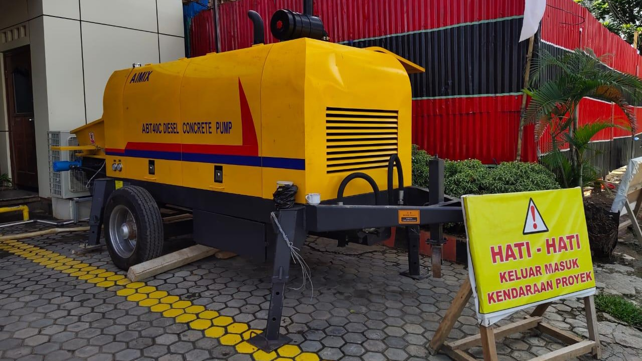 ABT40C Mini Diesel Concrete Pump in Indonesia