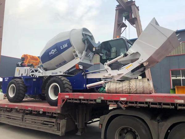 Loading AIMIX AS2.6 beton aralashtirgich