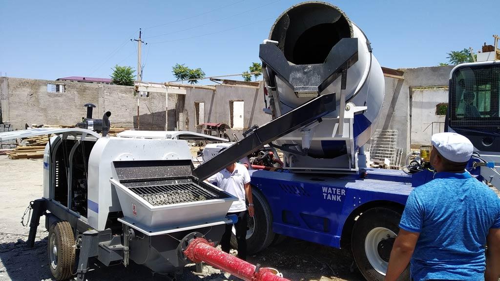 Mixer Beton Pemuatan Mandiri dengan Pompa