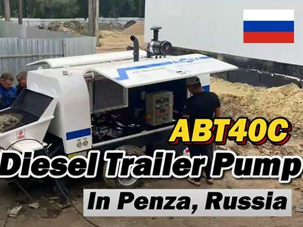 ABT40C Diesel Concrete Pump in Russia