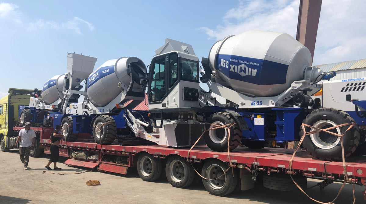 Mengekspor Self Loading Mixer ke Alatum, Kazakhstan