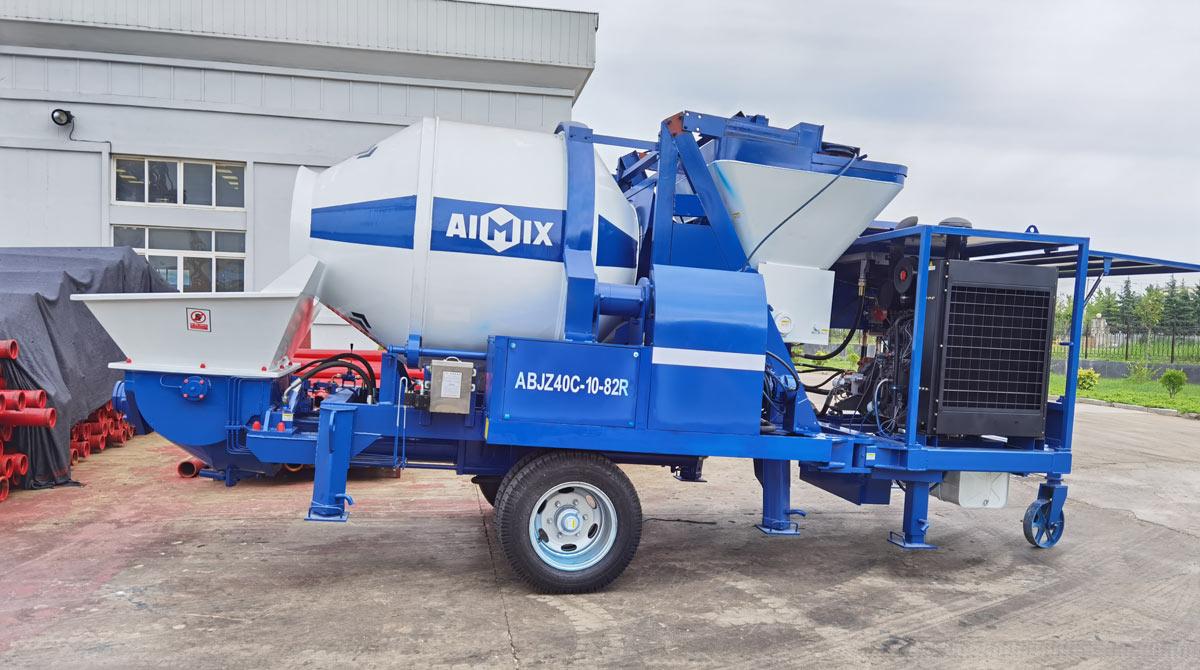 ABJZ40C Diesel Concrete Mixer Pump Was Sent to Jamaica