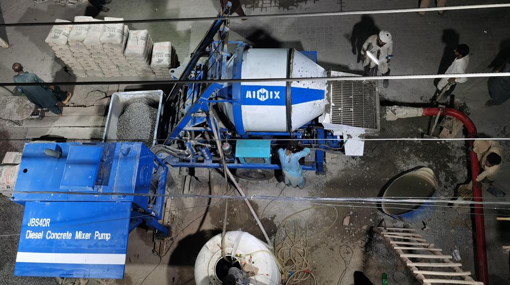 ABJZ40C Diesel Concrete Mixer Pump in Pakistan