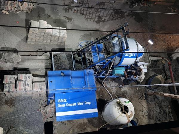 ABJZ40C Diesel Mixer Pump Working in Pakistan