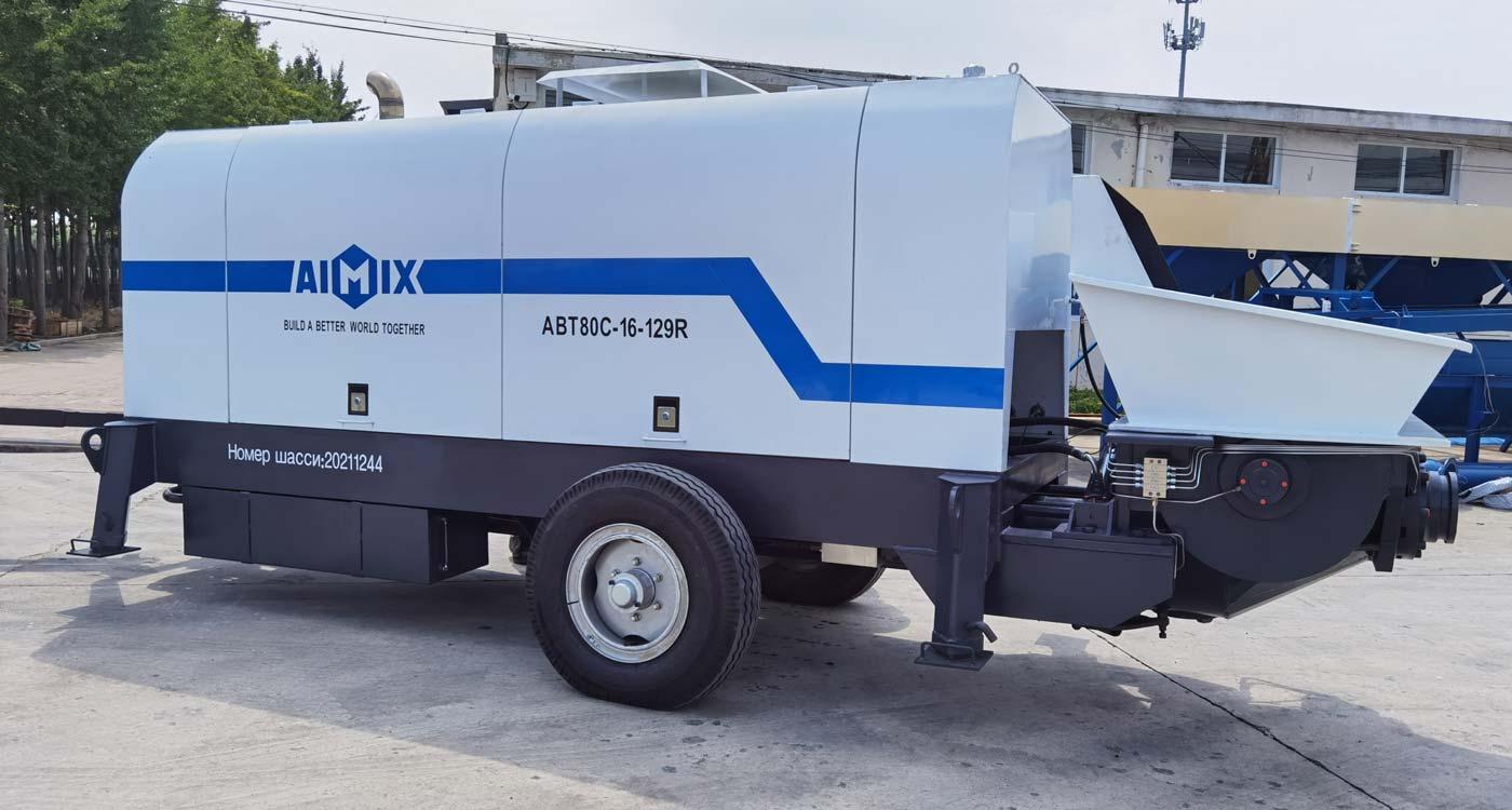 Aimix ABT80C dizel beton nasosi Rossiyaga etkazib berildi