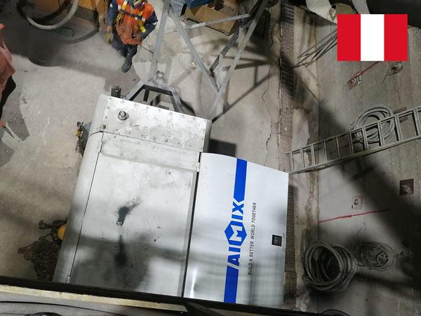Aimix Peruda tunnel qurilishi uchun ABT80D elektr beton nasosi