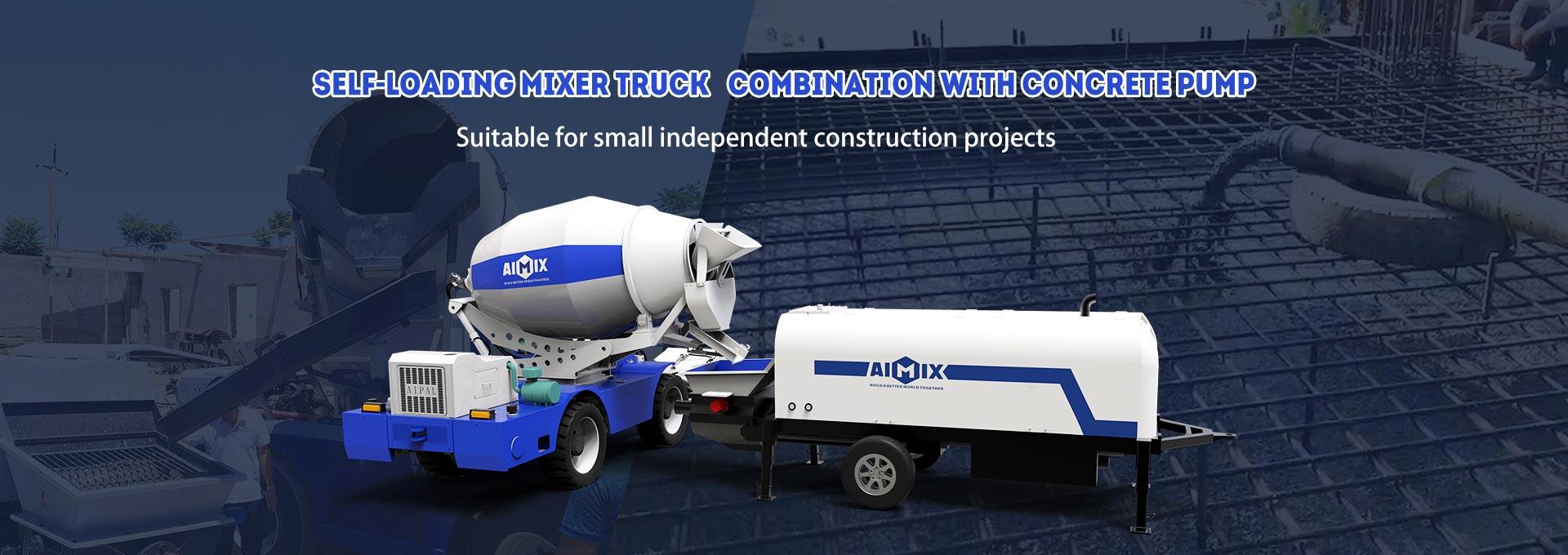 Aimix Mixer Beton Pemuatan Mandiri dengan Pompa