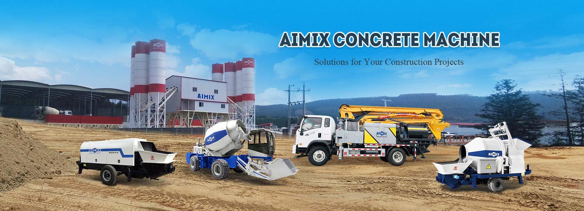 Betonmischer mit Pumpe - AIMIX gruppe an