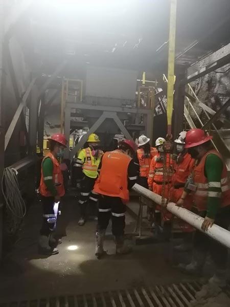 Peruda tunnel qurilishi uchun beton nasos
