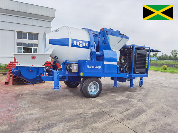 Delivering ABJZ40C Diesel Concrete Pump to Jamaica