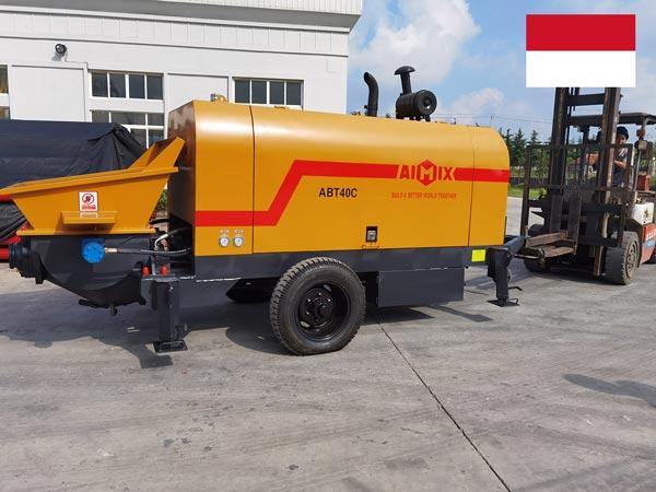 Yetkazib berish Aimix ABT40C tirkama nasosi Indoneziyaga