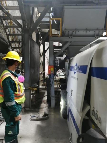 Peruda tunnel qurilishi uchun elektr beton nasos