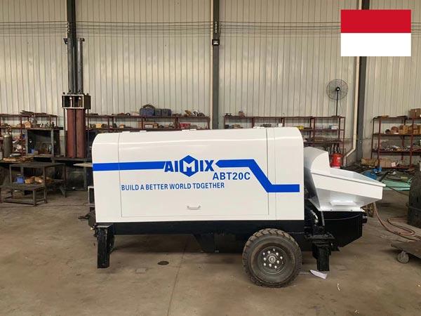ABT20C Diesel Concrete Pump Was Exported to Palembang, Indonesia