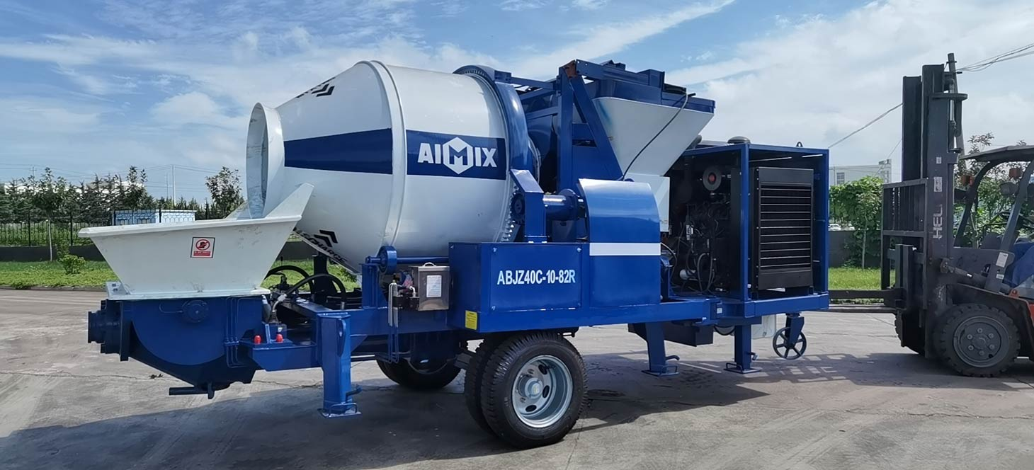 Concrete Mixer Pump Strict Quality Control in Factory